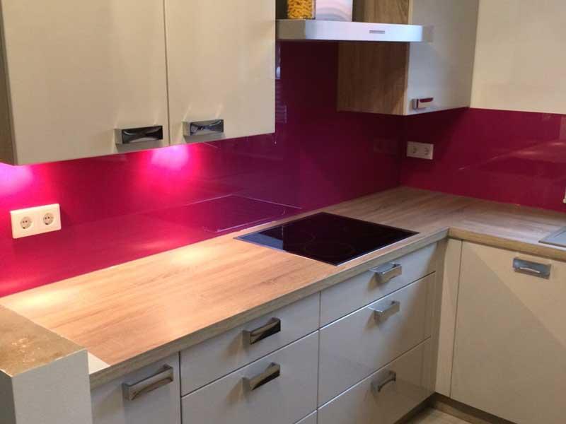 Küchenrückwand Glas - Farbe nach Wahl