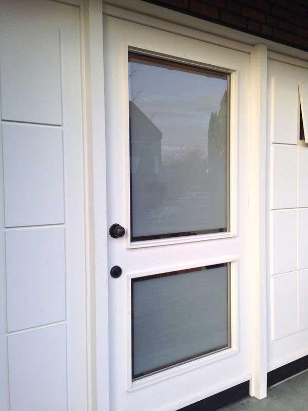 Sandgestrahltes Glas in der Haustür