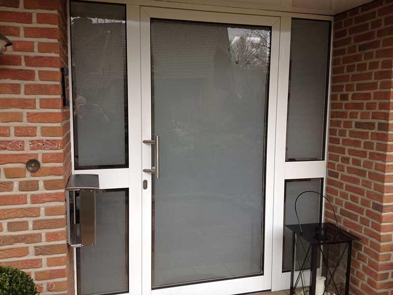 Satiniertes Glas in der Haustür