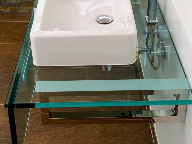 Waschtischplatte aus Glas
