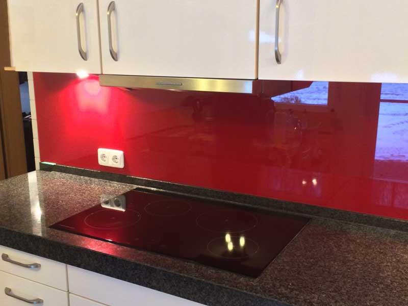 Küchenrückwand Glas – Farbe nach Wahl
